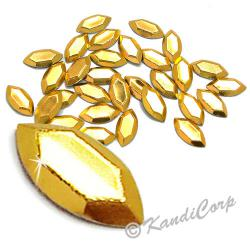 Oval Gold HotFix Octagon Faceted RhineStuds