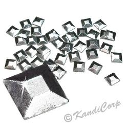 Square Silver HotFix Octagon Faceted RhineStuds