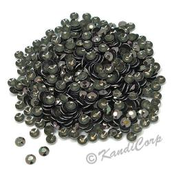 Round 2mm 6ss Bronze HotFix Octagon Faceted RhineStuds