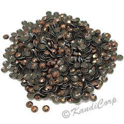 Round 4mm 16ss Brown HotFix Octagon Faceted RhineStuds