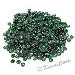 Round 4mm 16ss Dark Green HotFix Octagon Faceted RhineStuds