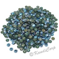 Round 2mm 6ss Pewter HotFix Octagon Faceted RhineStuds
