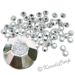 Round 3mm 10ss Silver HotFix Octagon Faceted RhineStuds