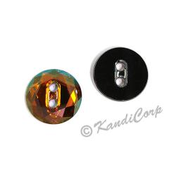 12mm Swarovski #3014 Faceted Round Button ~ Crystal Copper