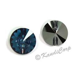 14mm Swarovski #3015 Rivoli Round Button ~ Montana
