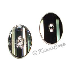 14mm Swarovski #3016 Oval Button ~  Crystal