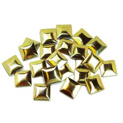 Square  5  mm Gold HotFix Nailheads