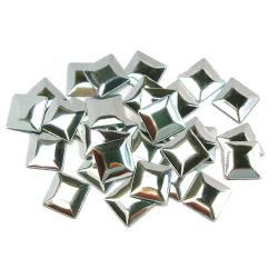 Square  7 mm Silver HotFix Nailheads