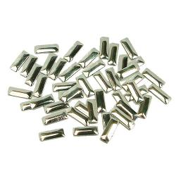 Rectangle 2.5x7mm Silver HotFix Nailheads