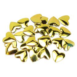 Hearts 10x10mm Gold HotFix Nailheads