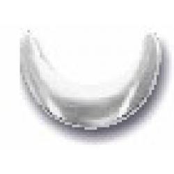 Crescent 10x10mm Matte Silver HotFix Nailheads