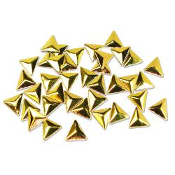 Triangle 10x10mm Gold HotFix Nailheads