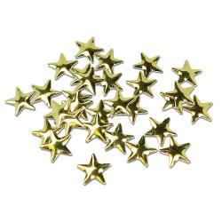Star  8 mm Gold HotFix Nailheads