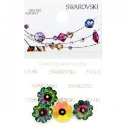 Swarovski Retail Ready Package 3700 10mm Crystal Vitrail Medium - 3 pcs