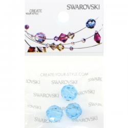 Swarovski Retail Ready Package 5000 8mm Aqua - 3 pcs