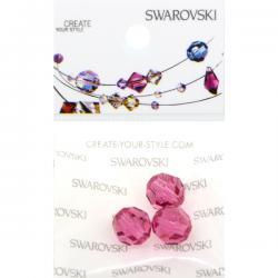Swarovski Retail Ready Package 5000 8mm Rose - 3 pcs