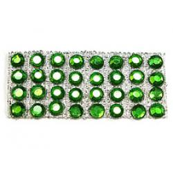 "Rhinestones by the Yard 3mm Peridot/ 1/4"" Silver Band"