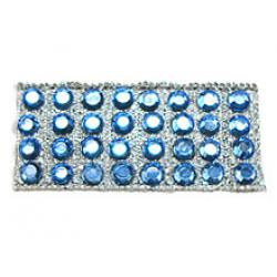 "Rhinestones by the Yard 3mm Sapphire/ 1/4"" Silver Band"