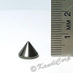 9x7mm Cone Screwback Spike - GunMetal