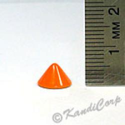 9.5x6mm Cone Screwback Spike - Orange 12PC
