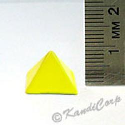 13x9mm Pyramid Screwback Spike - Lemon (Candy-Colored)